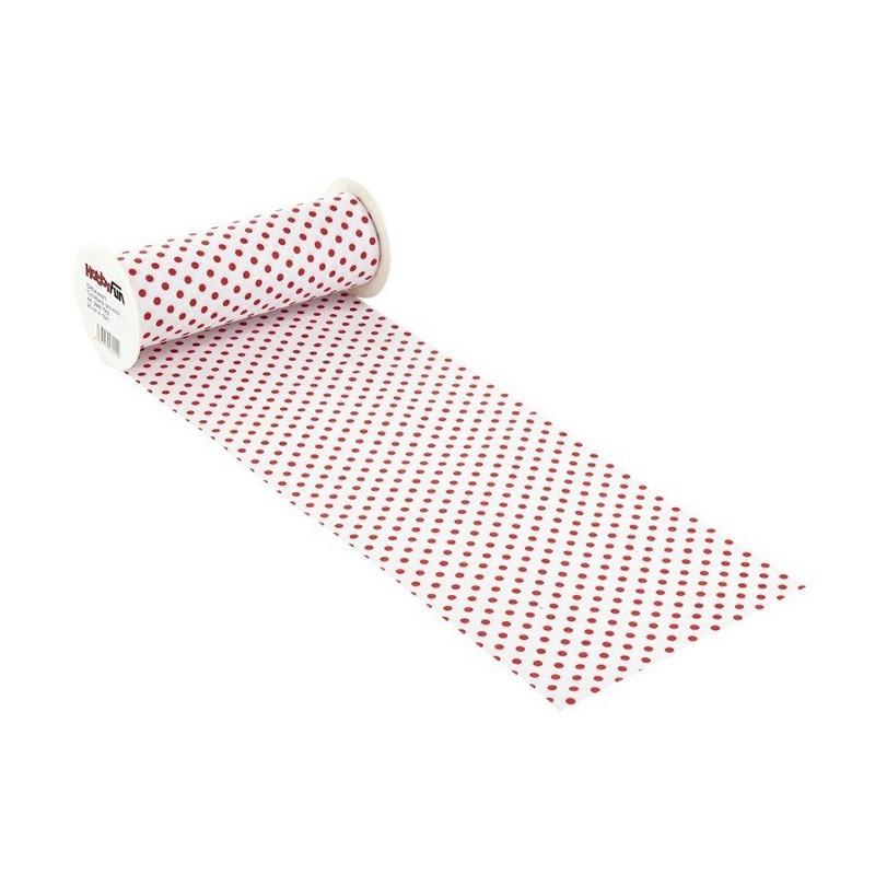 COTTON, H 20 x 50 cm WHITE polka dot/RED