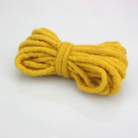 CORD IN FELT, Ø 3 MM, OCHER