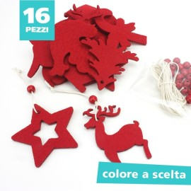 16 CHRISTMAS DECORATIONS IN FELT TO ASSEMBLE about 6 cm