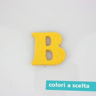 """LETTERA IN FELTRO COLORATO - """"B"""" MAIUSCOLO"""