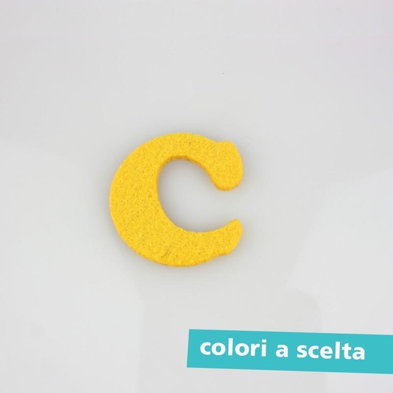 """LETTERA IN FELTRO COLORATO - """"A"""" MAIUSCOLO"""