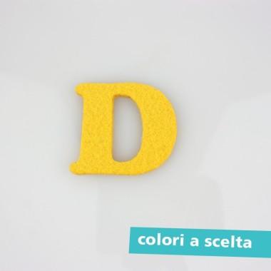 """LETTERA IN FELTRO COLORATO - """"D"""" MAIUSCOLO"""