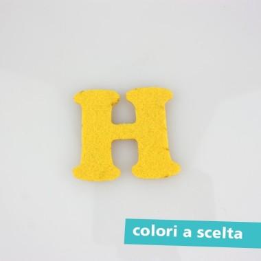 """LETTERA IN FELTRO COLORATO - """"H"""" MAIUSCOLO"""