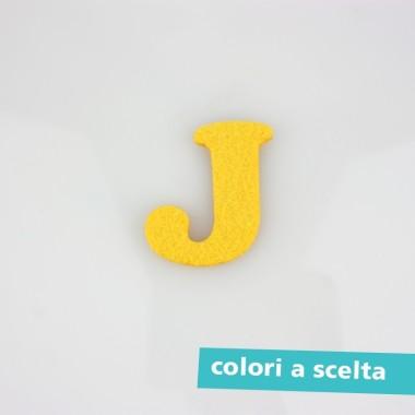 """LETTERA IN FELTRO COLORATO - """"J"""" MAIUSCOLO"""