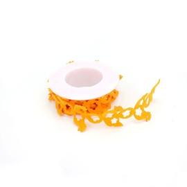 NASTRO IN FELTRO TRAFORATO GALLINELLA - ARANCIO