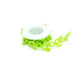 NASTRO IN FELTRO TRAFORATO GALLINELLA - VERDE ACIDO