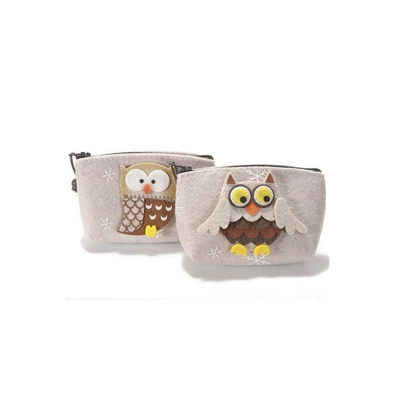 COIN PURSE IN FELT - OWL