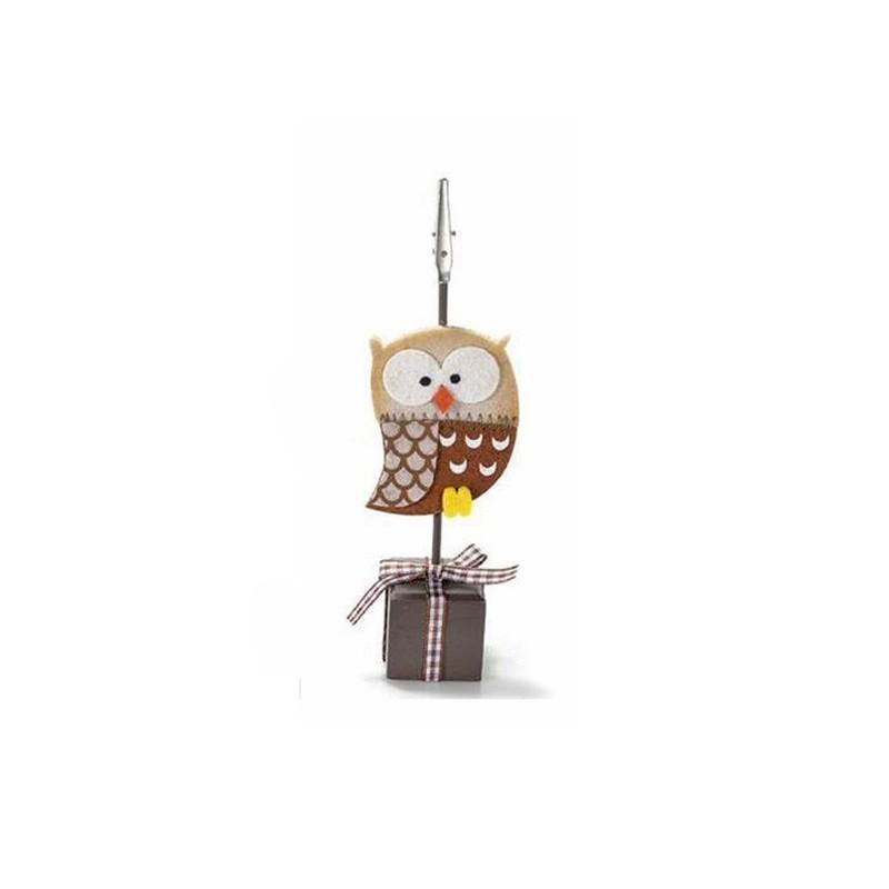 MEMOCLIP/ SEGNAPOSTO GUFO - BEIGE