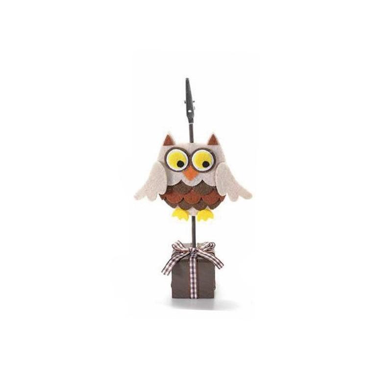 MEMOCLIP/ PLACEHOLDER OWL - BEIGE