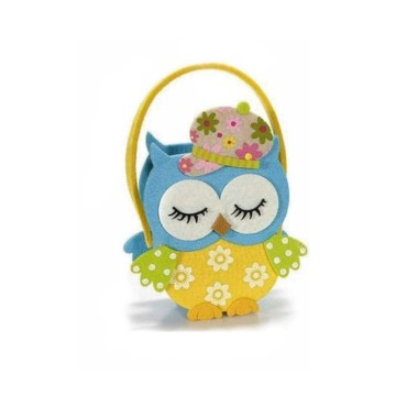 THE PURSE FELT OWL - TURQUOISE