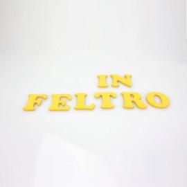 """LETTERA IN FELTRO COLORATO - """"E"""" MAIUSCOLO"""