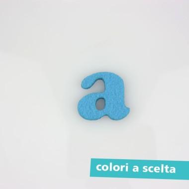 """LETTERA IN FELTRO COLORATO - """"a"""" MINUSCOLO"""