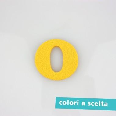 """LETTERA IN FELTRO COLORATO - """"O"""" MAIUSCOLO"""