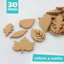 KIT SAGOME IN FELTRO MIX FOGLIE - DIMENSIONI A SCELTA