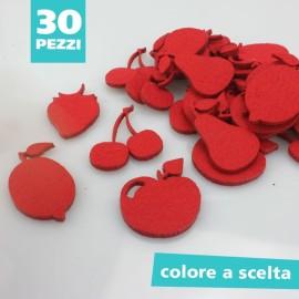 KIT SAGOME IN FELTRO MIX FRUTTA - DIMENSIONI A SCELTA