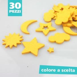 KIT SAGOME IN FELTRO MIX CIELO - DIMENSIONI A SCELTA