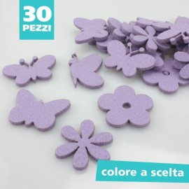 BUTTERFLY AND FLOWER MIX FELT SHAPES KIT - SIZE OF YOUR CHOICE