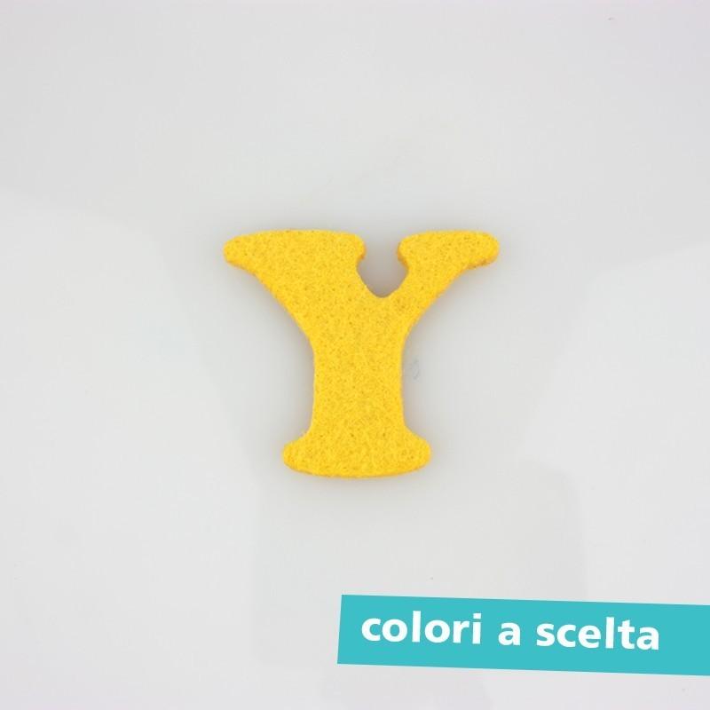 """LETTERA IN FELTRO COLORATO - """"X"""" MAIUSCOLO"""