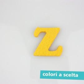 """LETTERA IN FELTRO COLORATO - """"Z"""" MAIUSCOLO"""