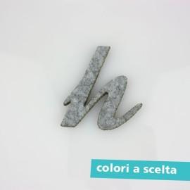 """LETTERA IN FELTRO COLORATO - """"g"""" CORSIVO"""