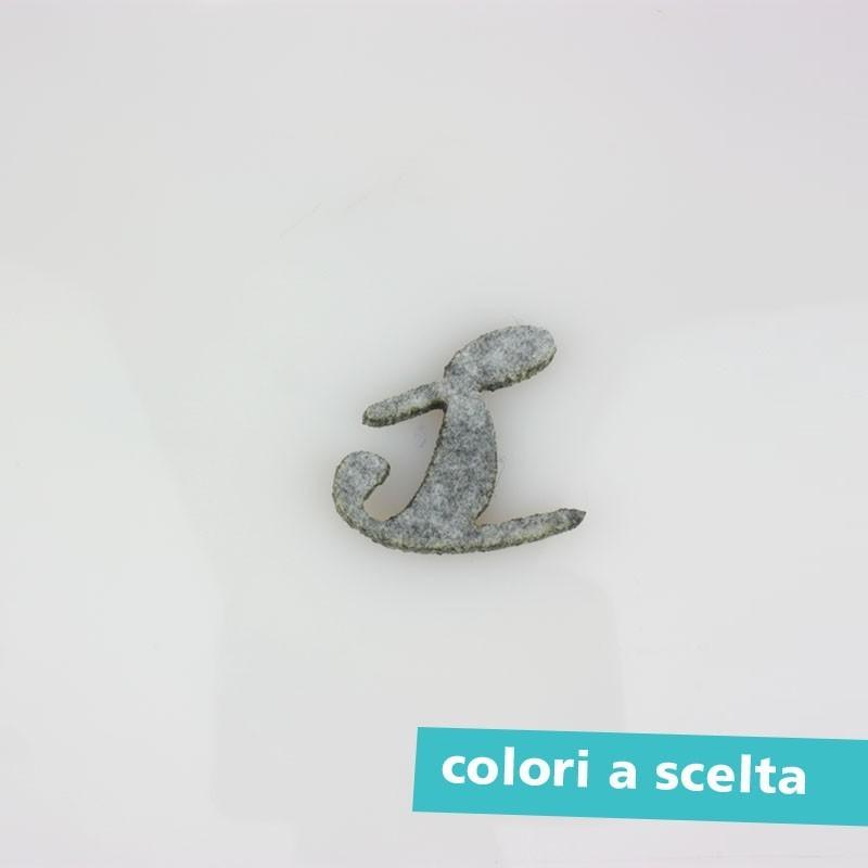 """LETTERA IN FELTRO COLORATO - """"r"""" CORSIVO"""