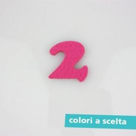 """NUMERO IN FELTRO COLORATO - """"1"""""""