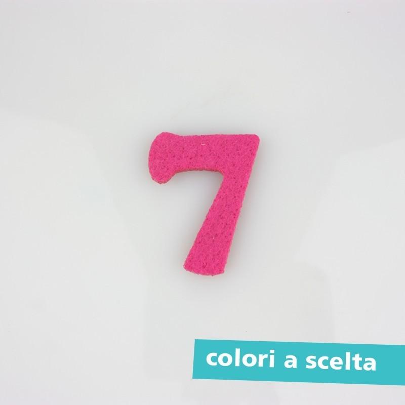 """NUMERO IN FELTRO COLORATO - """"5"""""""