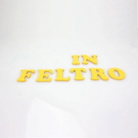 """LETTERA IN FELTRO COLORATO - """"L"""" MAIUSCOLO"""