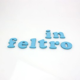 """LETTERA IN FELTRO COLORATO - """"f"""" MINUSCOLO"""