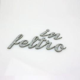 """LETTERA IN FELTRO COLORATO - """"u"""" CORSIVO"""