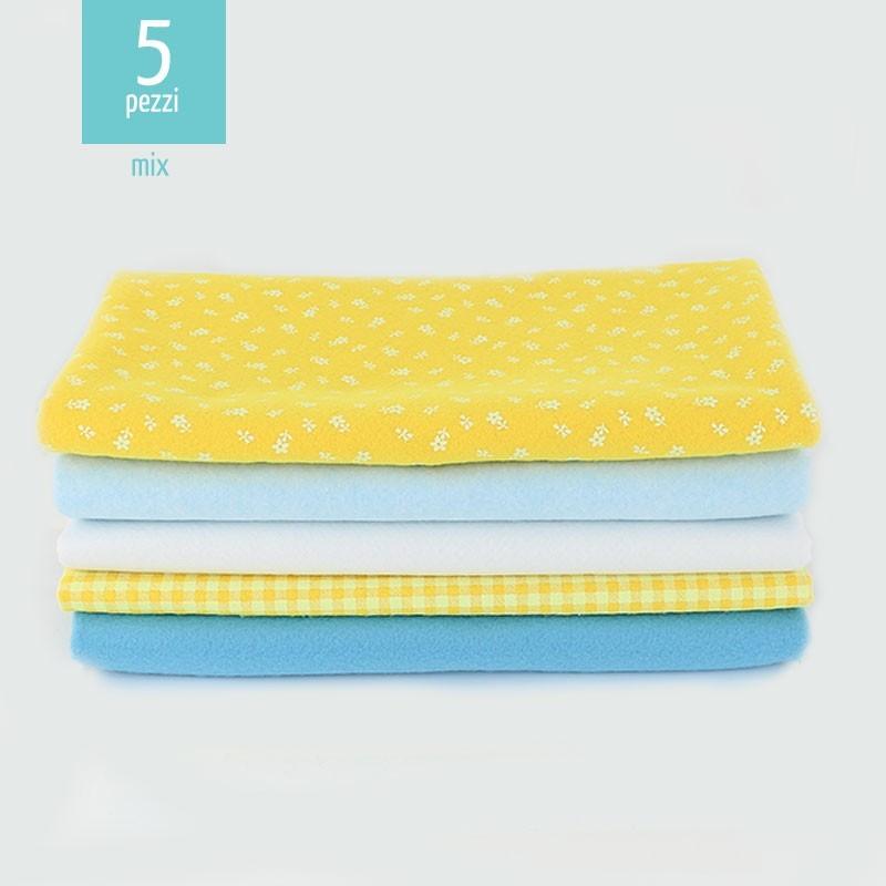 kit-risparmio-5-pannolenci-mix-quadratini-fiorellini-giallocielo